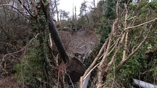 The landslide in Ystalyfera