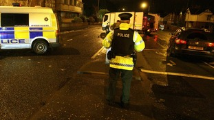 Police seal off the upper Newtownards Road