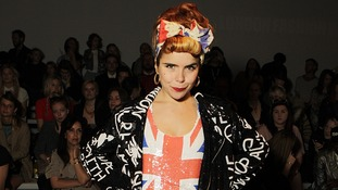 Singer Paloma Faith attends the Ashish Spring Summer 2012 Catwalk, Somerset House, London