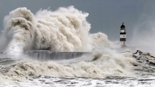 Rain and winds of up to 70mph are due to lash Britain on Monday.