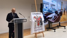 The new £53 million Northamptonshire County Council headquarters has been opened by Communities Secretary Sajid Javid.