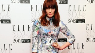 Singer Florence Welch attends the 2012 Elle Style Awards at The Savoy Hotel in central London