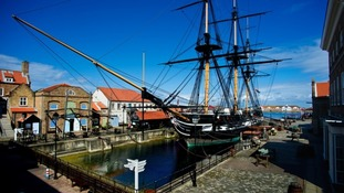 HMS Trincomalee, the world's oldest floating warship.