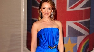 Kylie Minogue arriving for the 2012 Brit Awards at The O2 Arena, London