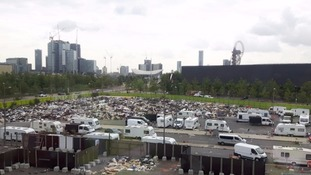 Waste dumped in the shadow of the Olympic Stadium