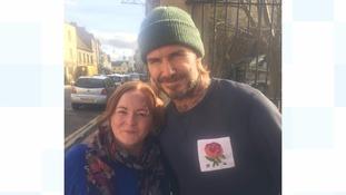 David Beckham and Sally Cosham