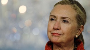 US Secretary of State Hillary Clinton is in hospital with 'blood clot'