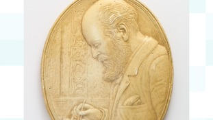 Carving of the craftsman Peter Carl Fabergé.