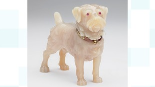 Fabergé figure of King Edward VII's dog Caesar.