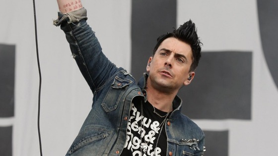 Ian Watkins on stage in 2010 with his band Lostprophets