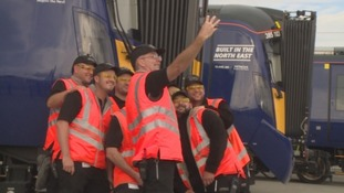 Hitachi unveils first UK built trains at Co Durham factory
