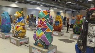 Some of the Big Sleuth bears previously on display