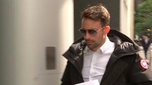 Michael McIndoe arriving at his bankruptcy hearing in June.