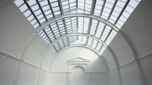 The vaulted ceiling uncovered during the renovation of Leeds Art Gallery.