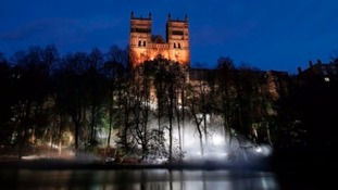 Durham Cathedral during Lumiere