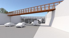 An artist's impression of the new bridge