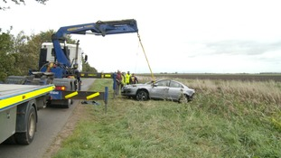 Two women dead after vehicle crashes into water-filled ditch in Cambridgeshire