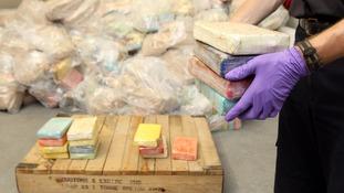 Blocks of cocaine seized by UK authorities.