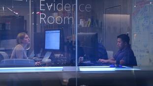 Staff at Microsoft's cybercrime unit.