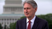 Chancellor Philip Hammond in Washington.