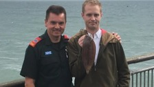 Angler describes how he swallowed a fish - and almost died