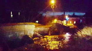 Tadcaster Bridge pictured shortly after its collapse in 2015.