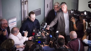 Mr Boyle speaks to reporters at Toronto airport.
