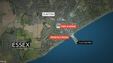 Two people were threatened with a knife in Clacton.