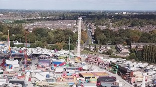 The Power Tower ride at Hull fair which broke down last night