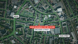 Teenagers arrested after man allegedly hit by car