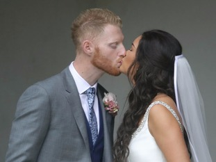 Ben Stokes and fiancee Clare Ratcliffe