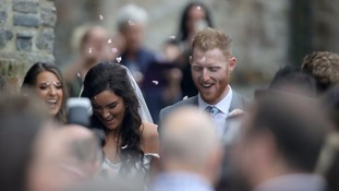 Clare Ratcliffe and Ben Stokes.