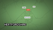 A pedestrian was hit by a lorry on the A505 Royston bypass.