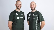 Dan Wolstencroft (left) and Mike Williams (right) started their challenge in October 2016 at the Great Birmingham Run.