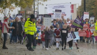 The march through South Shields