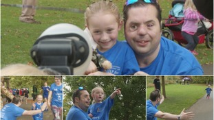 Simon Brown came to cheer Tempy on during her 5k run in Darlington
