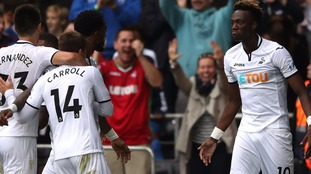 Swansea City beat Huddersfield to win first home game of league season