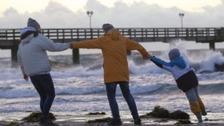South East basks in 25C as UK awaits Hurricane Ophelia