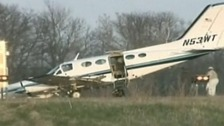 Plane crash lands in Wisconsin in the United States
