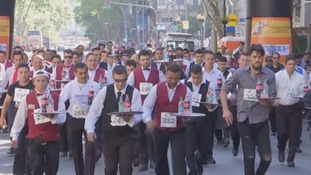 Waiters race to be crowned fastest server in Argentina