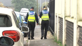Police patrol Field Street in Kettering on Sunday