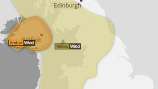 Warnings in place for Monday from midday until midnight
