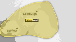 Further warning into overnight into Tuesday as winds move further east