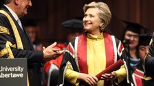 Hillary Clinton receives doctorate from Swansea University
