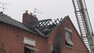 Fire crews were called to the scene at around 8.30am on Sunday 15 October.