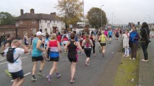 22,000 are estimated to have taken part in the Birmingham International Marathon.