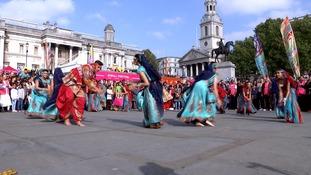 Trafalgar Square hosts Diwali celebrations