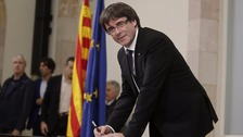 Carles Puigdemont, the president of Catalonia