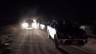 The convoy had travelled by night.