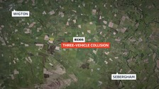 The collision took place at 1.45pm on Sunday 15 October